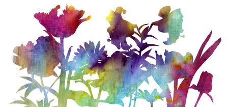 watercolor drawing flowers
