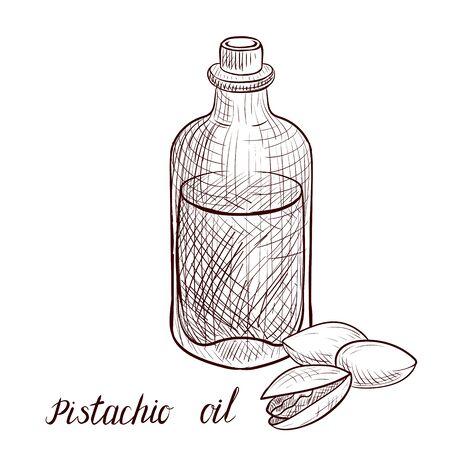 vector drawing pistachio oil