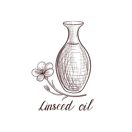 vector drawing linseed oil