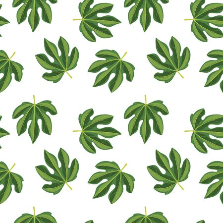 vector seamless pattern with drawing leaves Фото со стока - 137873504