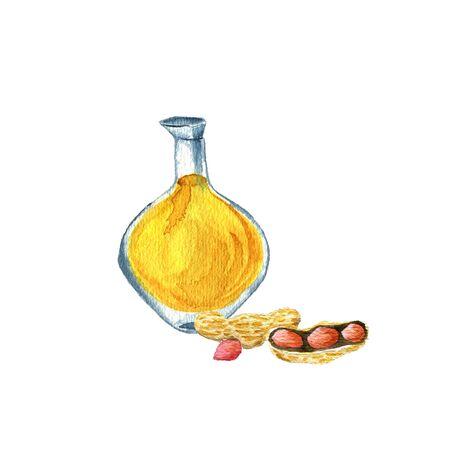 watercolor drawing peanut oil Stockfoto