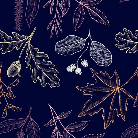 vector drawing seamless pattern