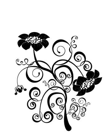vector flower pattern isoleted on a white background Stock Vector - 12290787