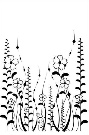 vector flower pattern isoleted on a white background
