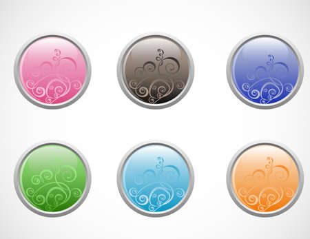 vector glossy buttons isolated on a white background Stock Vector - 12486626