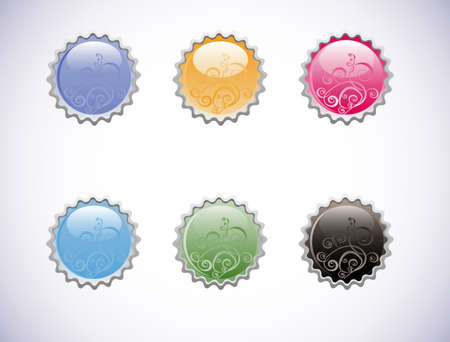 vector glossy buttons isolated on a white background