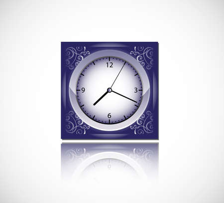 vector clock icon design isolated on a with background