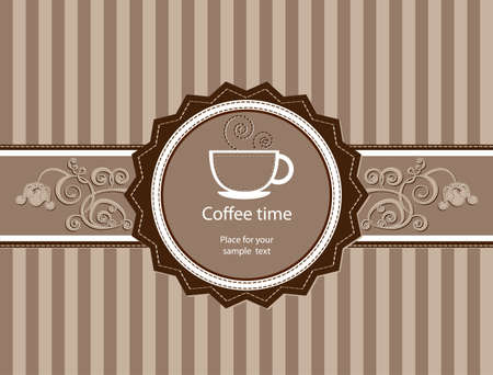 Coffee background  Menu for restaurant, cafe, bar, coffeehouse Vector