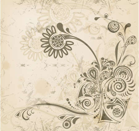 Abstract vintage flower background with place for text