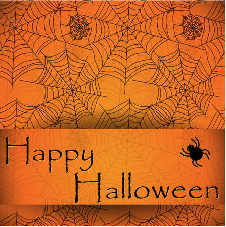 Spider s web  Orange pattern fro halloween Vector