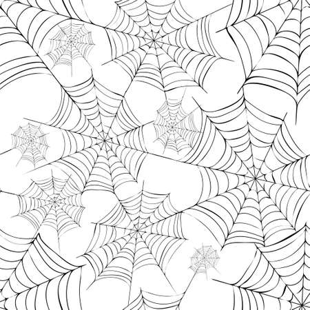 cobwebs: Spider s web  Black and white vector pattern fro halloween Illustration