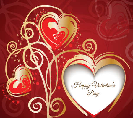 Gift card  Valentine s Day   background Vector