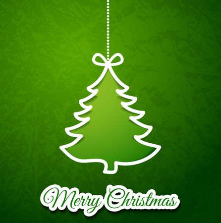 Christmas tree paper cutting design papercraft card
