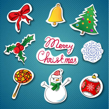 Christmas icons set  illustration Stock Vector - 16878743