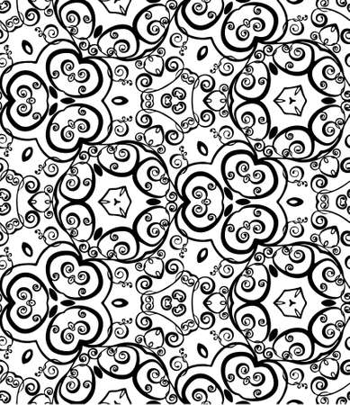 abstract vintage wallpaper pattern seamless background   illustration Stock Vector - 16878724