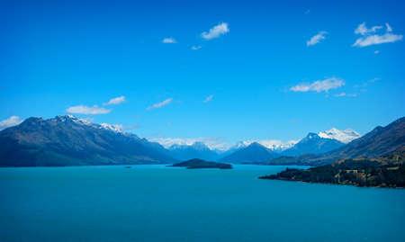 wakatipu: Beautiful Wakatipu Lake, Queenstown in New Zealand