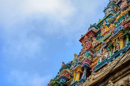 krishna: Details of indian Kapaleeswarar temple , Chennai, India Stock Photo