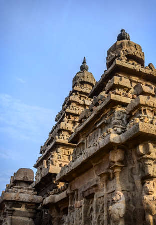 tamil nadu: Famous Tamil Nadu landmark - Ancient Shore temple, world  heritage site in  Mahabalipuram, Tamil Nadu, India