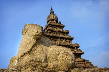 mahabalipuram: Ancient Shore Temple at Mahabalipuram, Kanchipuram District, Tamil Nadu, India