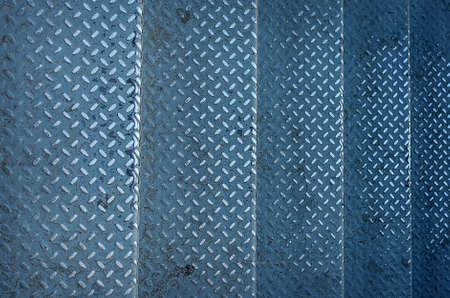 diamond plate background: Stairs grunge of old metal diamond plate background.