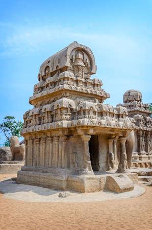 mamallapuram: Five rathas complex in Mamallapuram, Tamil Nadu, India