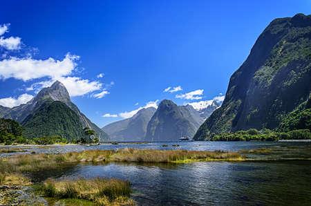 Milford Sound. Fiordland National Park, Nieuw-Zeeland Stockfoto