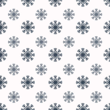 vector pattern: Snowflakes seamless vector pattern.