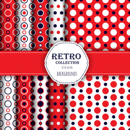 jumbo: Collection of Holiday seamless patterns with polka dot and jumbo polka dot.