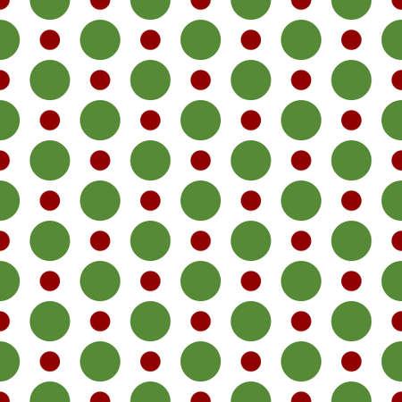 lunares rojos: sin costuras modelo retro con los lunares verdes y rojos sobre fondo blanco
