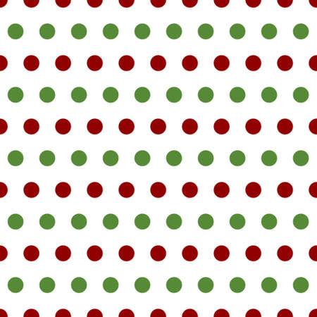 red polka dots: sin costuras modelo retro con los lunares verdes y rojos sobre fondo blanco