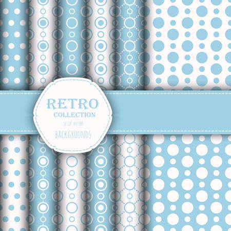 jumbo: Collection of seamless patterns with polka dot and jumbo polka dot.