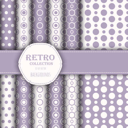 jumbo: Collection of seamless patterns with polka dot and jumbo polka dot.