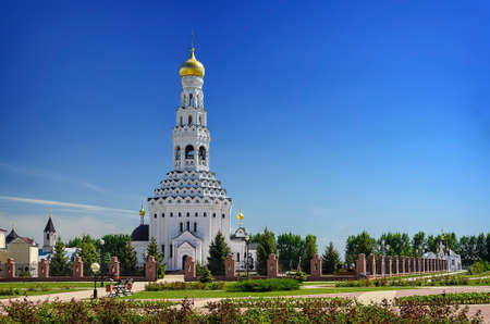 temple tank: Church of the Holy Apostles Peter and Paul. Temple-monument to soldiers who died during a large-scale tank battle under Prokhorovka. Prokhorovka, Russia