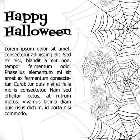 halloween background: Vector spider web. Stock Photo