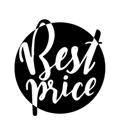 BEST PRICE - hand lettering inscription for discount card or banner. Modern brush calligraphy vector illustration