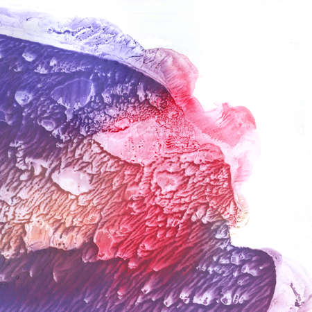 Abstract violet and pink watercolor background.