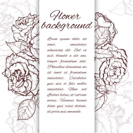 Rose Zeichnen Fünf Beautiful Hand Gezeichnet Rose Bloom Ergeben
