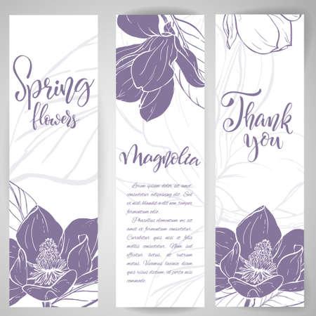 スケッチリニアマグノリアの花。