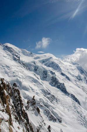 Chamonix. Mont Blanc. mountain. snow Фото со стока