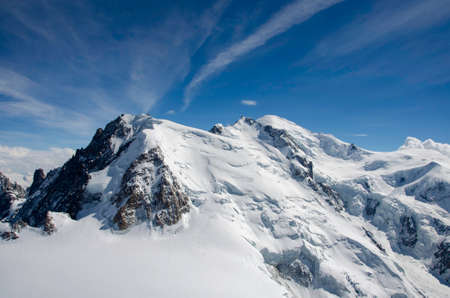 Air view. Chamonix. Mont Blanc. Mountain. Фото со стока