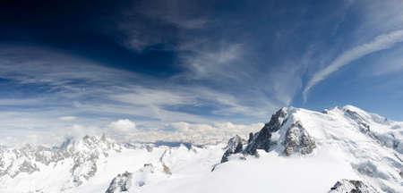 Air view. Chamonix. Mont Blanc. Mountain. Reklamní fotografie