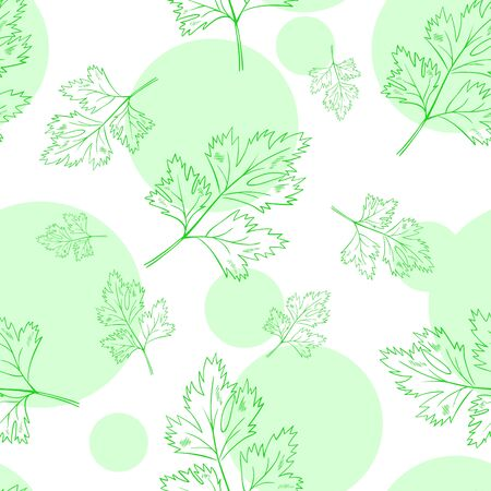vector seamless pattern with parsley leafs. Ilustracja
