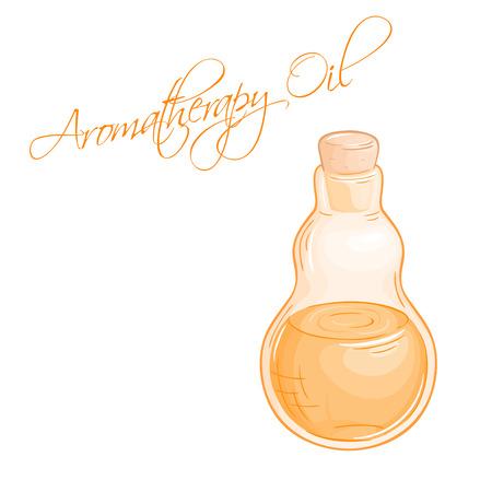 oil bottle: vector illustration of isolated essential oil bottle.