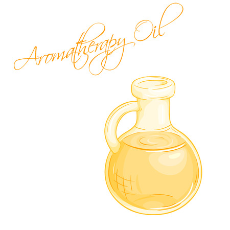 essential oil: vector illustration of isolated essential oil bottle.