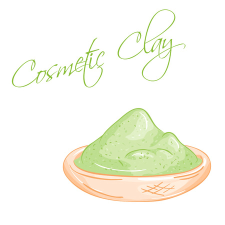 vector hand drawn illustration of isolated cup of cosmetic clay.