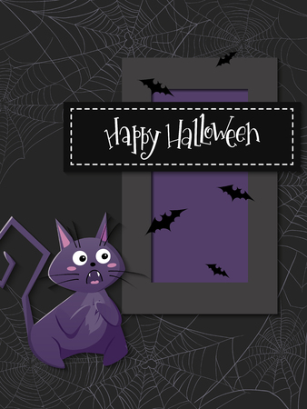 vector illustration with design template for halloween event