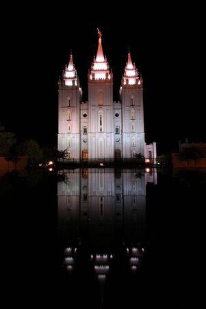 salt lake city: Templo Morm�n de Salt Lake City Foto de archivo