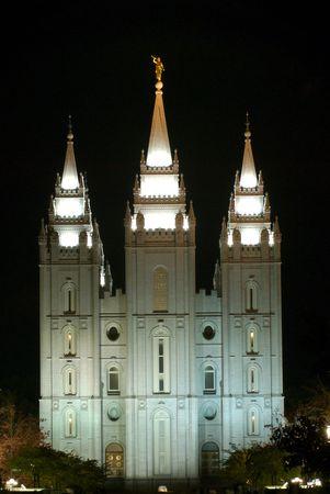 salt lake city: Templo Morm�n en Salt Lake City Foto de archivo