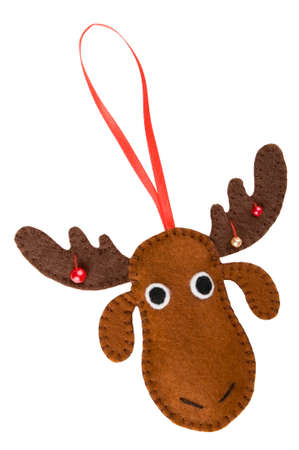 handmade christmas decorations felt christmas moose isolated stock photo picture and royalty free image image 22447288 - Christmas Moose Decorations