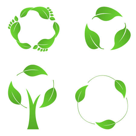 Recycling icons set Illustration